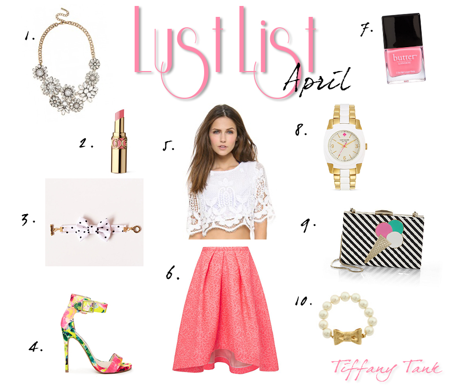 Tiffany Tank | Lust List: April 2014